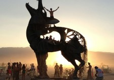 Burning man. Playa sculpture, photographed on August 30, 2013. By Bexx Brown-Spinelli.