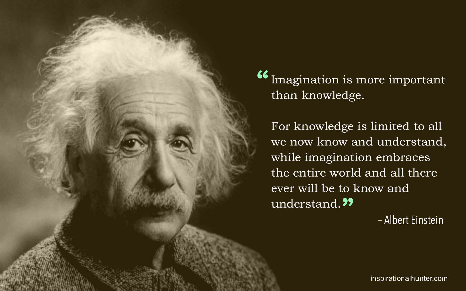 albert einstein quote imagination is more important than