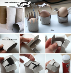Toilet roll egg holders