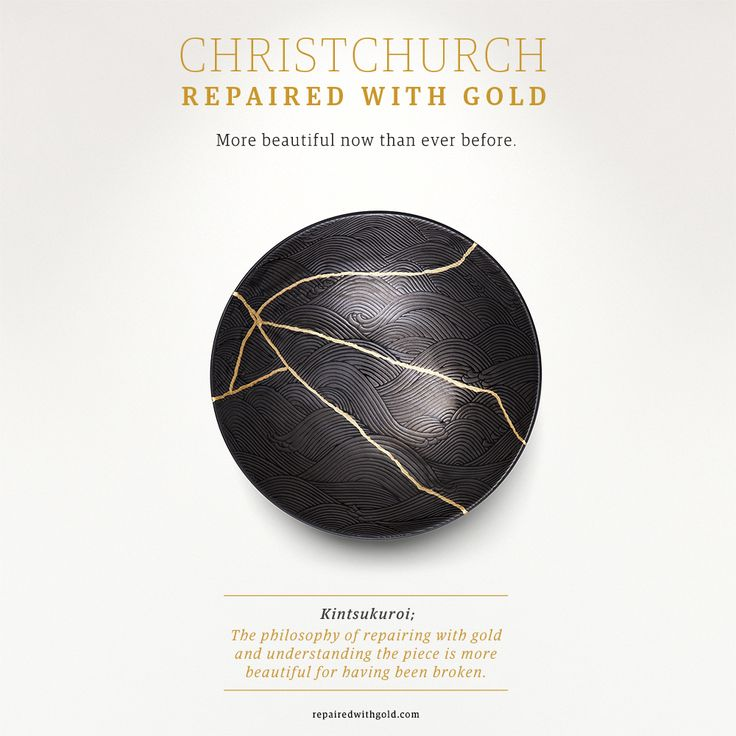 Christchurch Plate - Repaired with Gold