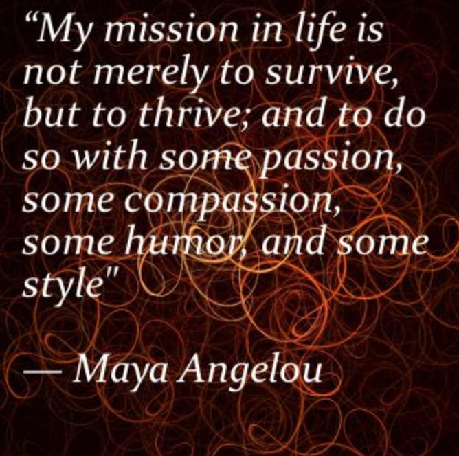 Maya Angelou Quote - Thrive