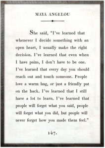 Maya Angelou Quote - book extract